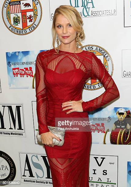 Actress Ellen Hollman attends the 16th annual Hollywood Celebrity Toy Drive Extravaganza on December 17 2015 in Los Angeles California