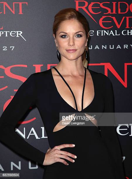 """Actress Ellen Hollman attends the premiere of Sony Pictures Releasing's """"Resident Evil: The Final Chapter"""" at Regal LA Live: A Barco Innovation..."""