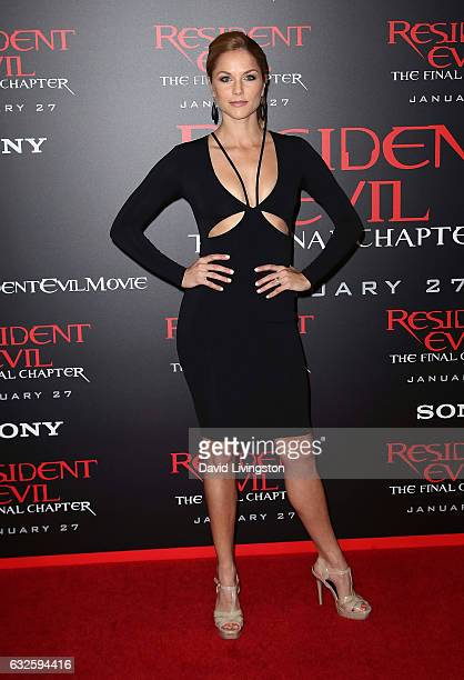 Actress Ellen Hollman attends the premiere of Sony Pictures Releasing's 'Resident Evil The Final Chapter' at Regal LA Live A Barco Innovation Center...