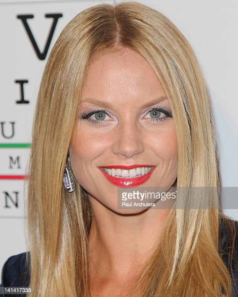 Actress Ellen Hollman attends the 'Visual Impact Now' charity event at Silverspoon on March 15 2012 in West Hollywood California