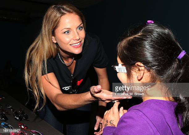 Actress Ellen Hollman of the cast of Starz Spartacus War Of The Damned lend support at the 2013 Visual Impact Now Annual Eye Clinic Event on March 20...