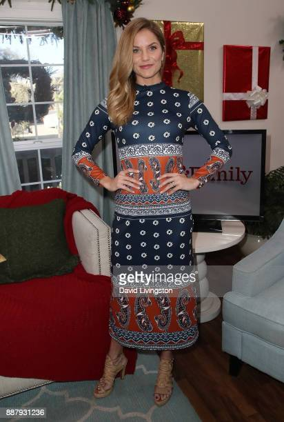 "Actress Ellen Hollman visits Hallmark's ""Home & Family"" at Universal Studios Hollywood on December 7, 2017 in Universal City, California."