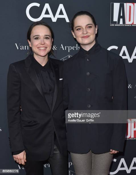 Actress Ellen Page and dancer Emma Portner arrive at the LA Dance Project's Annual Gala at LA Dance Project on October 7 2017 in Los Angeles...