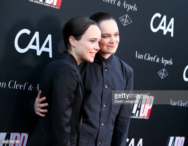 Actress Ellen Page and dancer Emma Portner attend LA Dance Project's Annual Gala at LA Dance Project on October 7 2017 in Los Angeles California