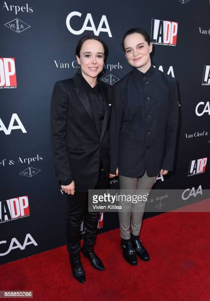 Actress Ellen Page and dancer Emma Portner attend the 2017 Los Angeles Dance Project Gala on October 7 2017 in Los Angeles California