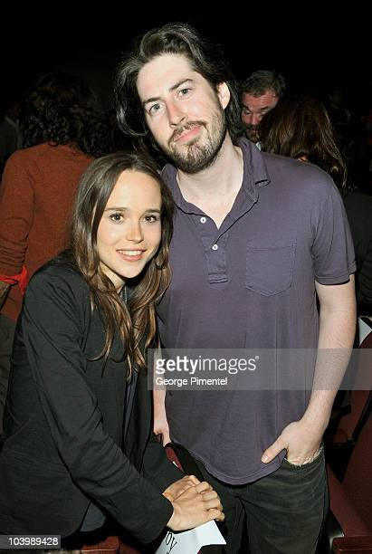 Actress Ellen Page and director Jason Reitman arrive Super Premiere held at Ryerson Theatre during the 35th Toronto International Film Festival on...