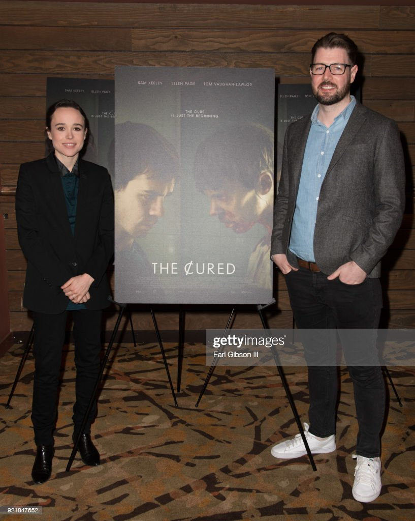 Actress Ellen Page and writer/director David Freyne attend the screening of IFC Films 'The Cured' at AMC Dine-In Sunset 5 on February 20, 2018 in Los Angeles, California.