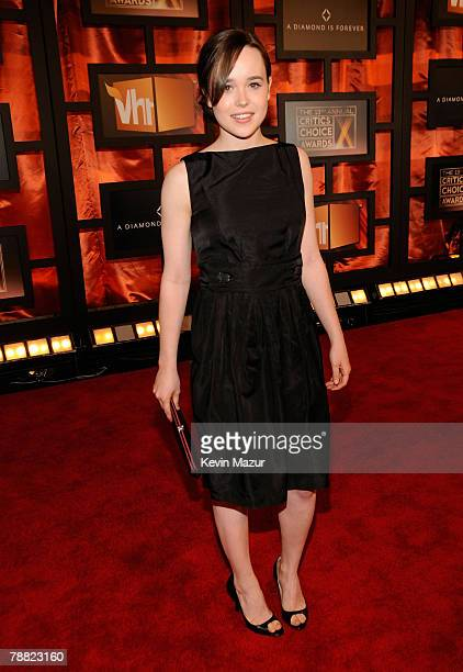 Actress Ellen Page arrives at the 13th ANNUAL CRITICS' CHOICE AWARDS at the Santa Monica Civic Auditorium on January 7, 2008 in Santa Monica,...