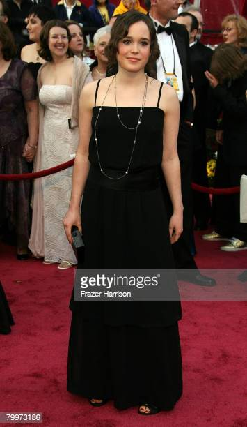 Actress Ellen Page arrives at the 80th Annual Academy Awards held at the Kodak Theatre on February 24 2008 in Hollywood California