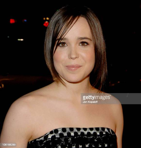 "Actress Ellen Page arrives at the Los Angeles premiere ""Juno"" at the Mann Village Theater on December 3, 2007 in Westwood, California."