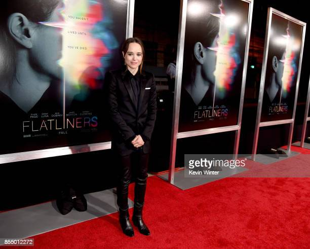 Actress Ellen Page arrives at the premiere of Columbia Pictures' Flatliners at the Ace Theatre on September 27 2017 in Los Angeles California