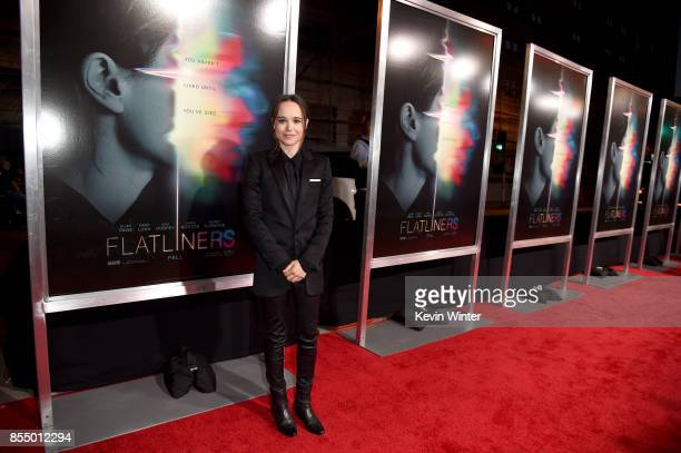 Actress Ellen Page arrives at the premiere of Columbia Pictures' 'Flatliners' at the Ace Theatre on September 27 2017 in Los Angeles California