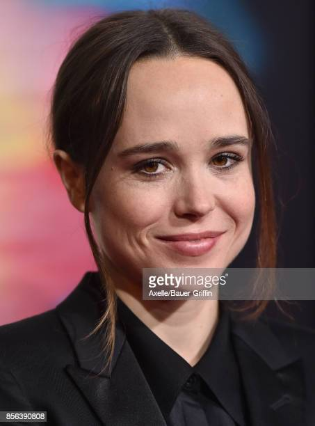 Actress Ellen Page arrives at the premiere of 'Flatliners' at The Theatre at Ace Hotel on September 27 2017 in Los Angeles California