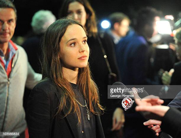 Actress Ellen Page arrives at the Super Premiere held at Ryerson Theatre during the 35th Toronto International Film Festival on September 10 2010 in...