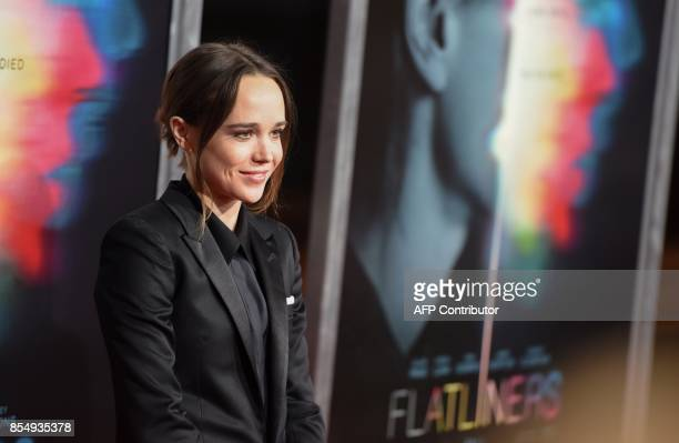 Actress Ellen Page arrives for the world premiere of Columbia Pictures' Flatliners September 27 2017 at The Theatre at the Ace Hotel in Los Angeles...