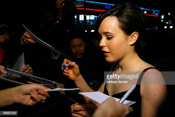 Actress Ellen Page arrives to the 7th annual Hollywood Life Breakthrough of the Year Awards at the Music Box at the Fonda on December 9 2007 in...