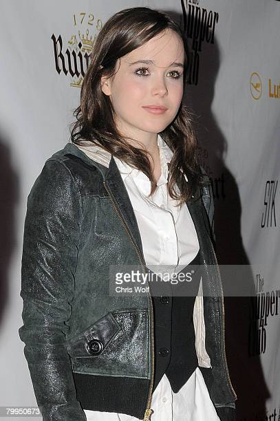 Actress Ellen Page at STK LA on February 22 2008 in Los Angeles California