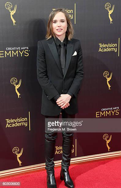 Actress Ellen Page attends the 2016 Creative Arts Emmy Awards at Microsoft Theater on September 11 2016 in Los Angeles California