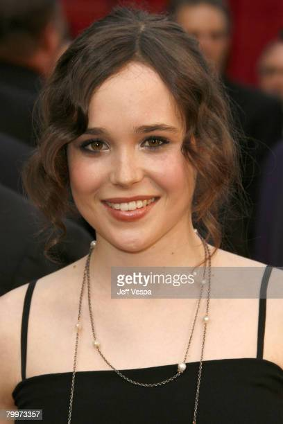 Actress Ellen Page attends the 80th Annual Academy Awards at the Kodak Theatre on February 24 2008 in Los Angeles California