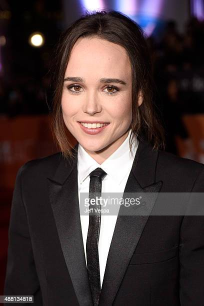"""Actress Ellen Page attends the """"Freeheld"""" premiere during the 2015 Toronto International Film Festival at Roy Thomson Hall on September 13, 2015 in..."""