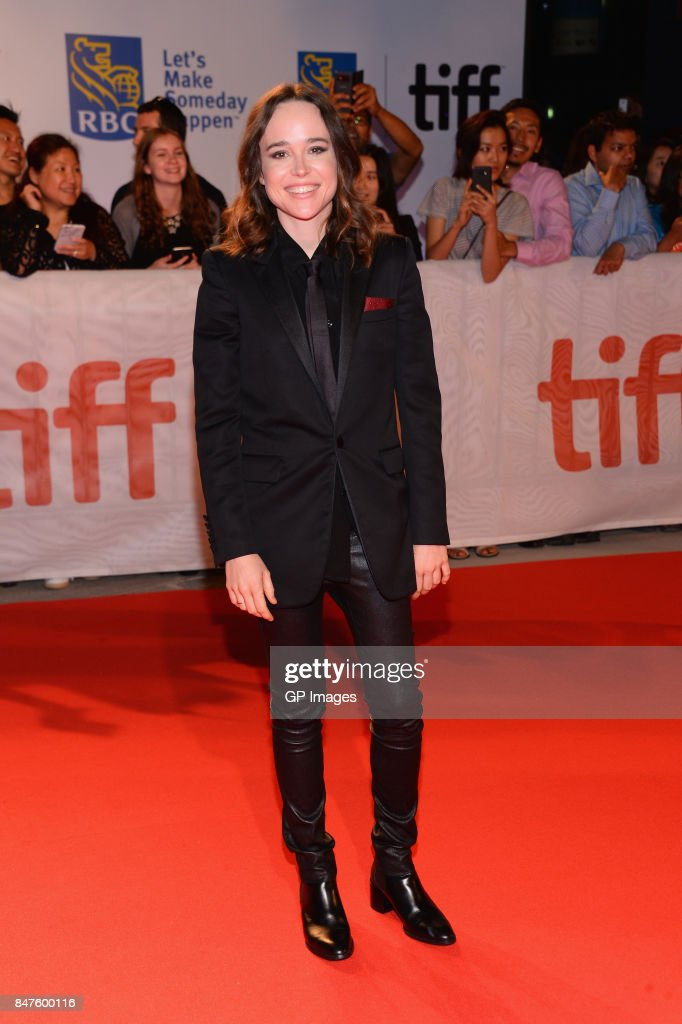 Actress Ellen Page attends the 'My Days Of Mercy' premiere during the 2017 Toronto International Film Festival at Roy Thomson Hall on September 15, 2017 in Toronto, Canada.