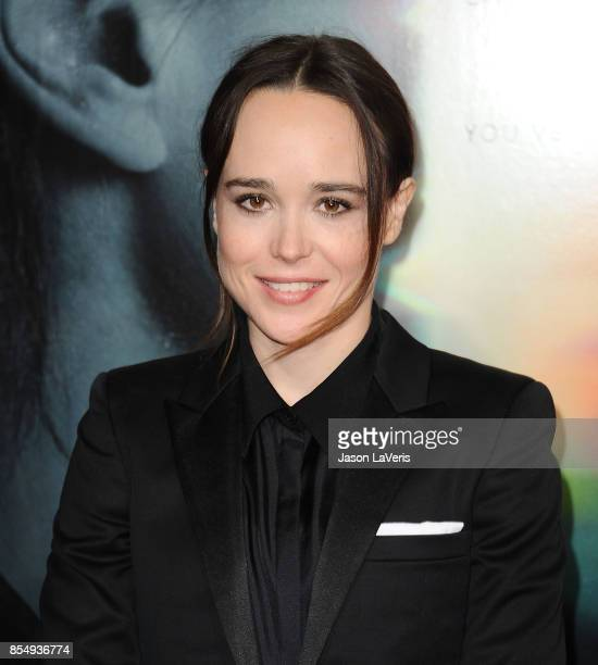 "Actress Ellen Page attends the premiere of ""Flatliners"" at The Theatre at Ace Hotel on September 27, 2017 in Los Angeles, California."