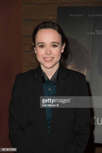 "Actress Ellen Page attends the Screening Of IFC Films ""The Cured"" at AMC Dine-In Sunset 5 on February 20, 2018 in Los Angeles, California."