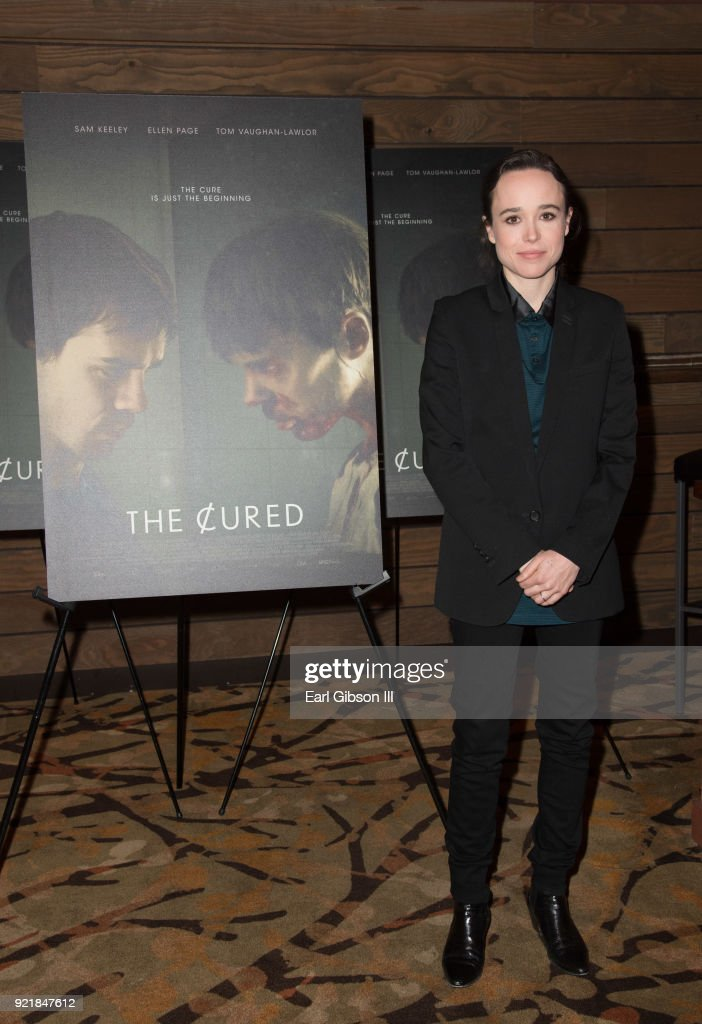 Actress Ellen Page attends the Screening Of IFC Films 'The Cured' at AMC Dine-In Sunset 5 on February 20, 2018 in Los Angeles, California.