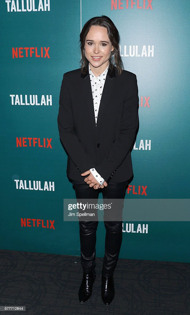 Actress Ellen Page attends the special screening of 'Tallulah' hosted by Netflix at Landmark Sunshine Theater on July 19, 2016 in New York City.