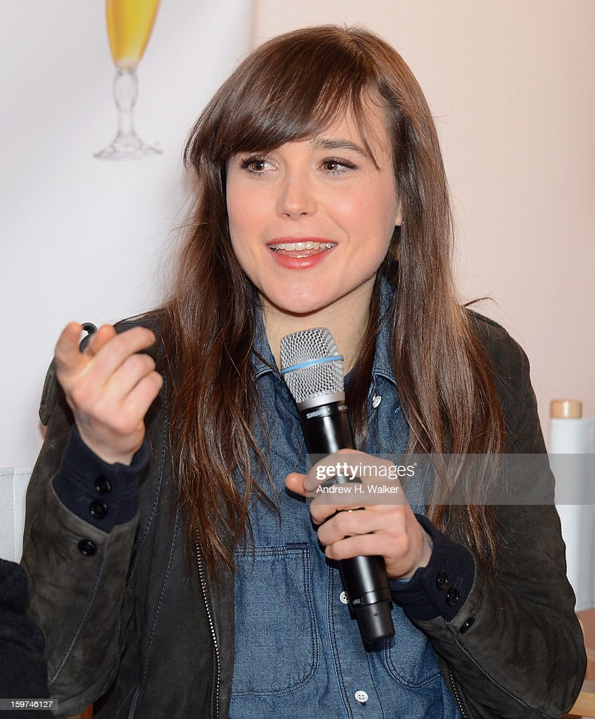 Actress Ellen Page attends the Stella Artois press junket for Sundance Film 'Touchy Feely' at Village at the Lift on January 19, 2013 in Park City, Utah.