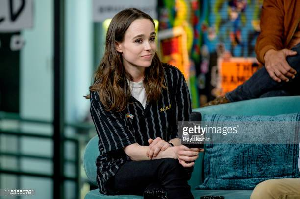 """Actress Ellen Page discusses """"Tales of the City"""" with the Build Series at Build Studio on June 03, 2019 in New York City."""