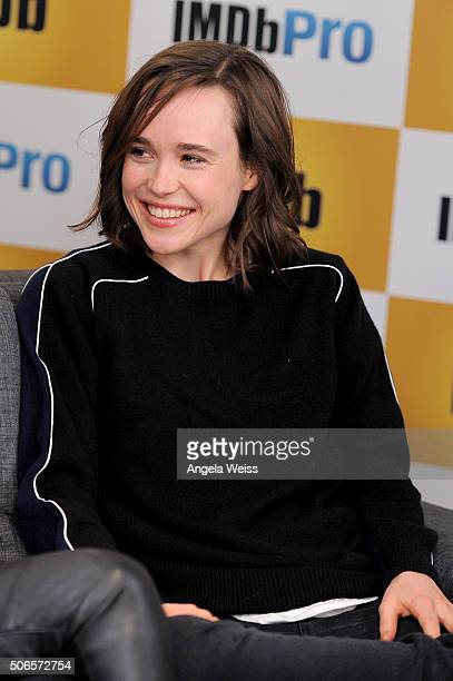 Actress Ellen Page in The IMDb Studio In Park City Utah Day Three on January 24 2016 in Park City Utah