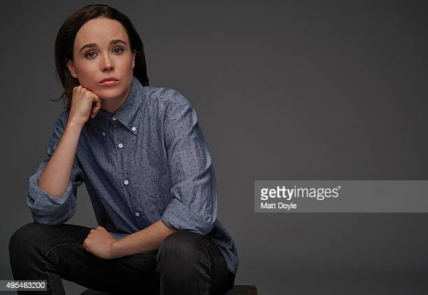 Actress Ellen Page is photographed for Back Stage on August 4 in New York City.