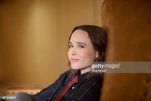 Actress Ellen Page is photographed for Los Angeles Times on September 21 2015 in Los Angeles California PUBLISHED IMAGE CREDIT MUST READ Gina...