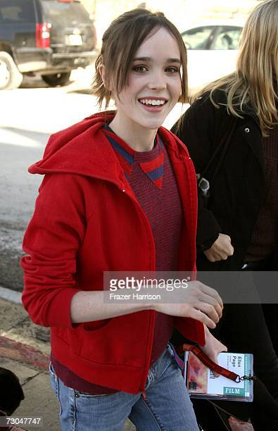 Actress Ellen Page is seen on Main Street during the 2007 Sundance Film Festival on January 19 2007 in Park City Utah