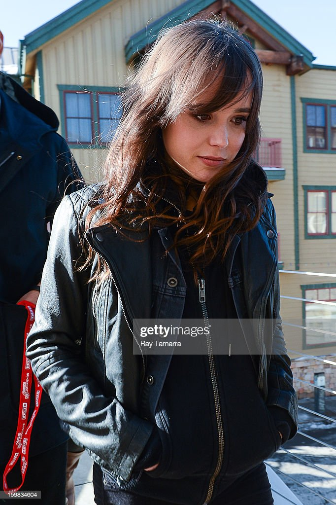 Actress Ellen Page leaves the Wireimage portrait studio on January 20, 2013 in Park City, Utah.