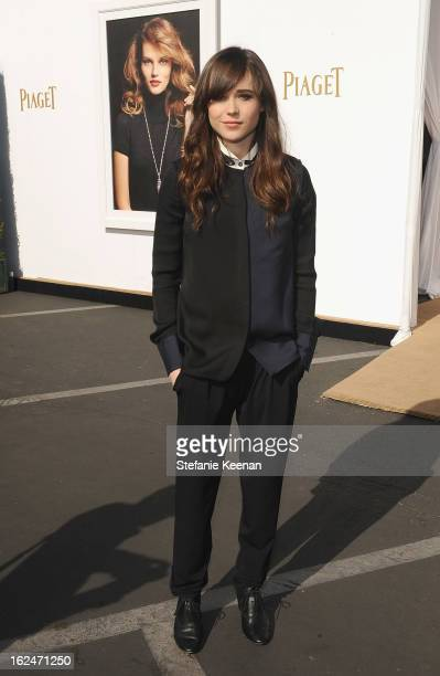 Actress Ellen Page poses in the Piaget Lounge during The 2013 Film Independent Spirit Awards on February 23, 2013 in Santa Monica, California.