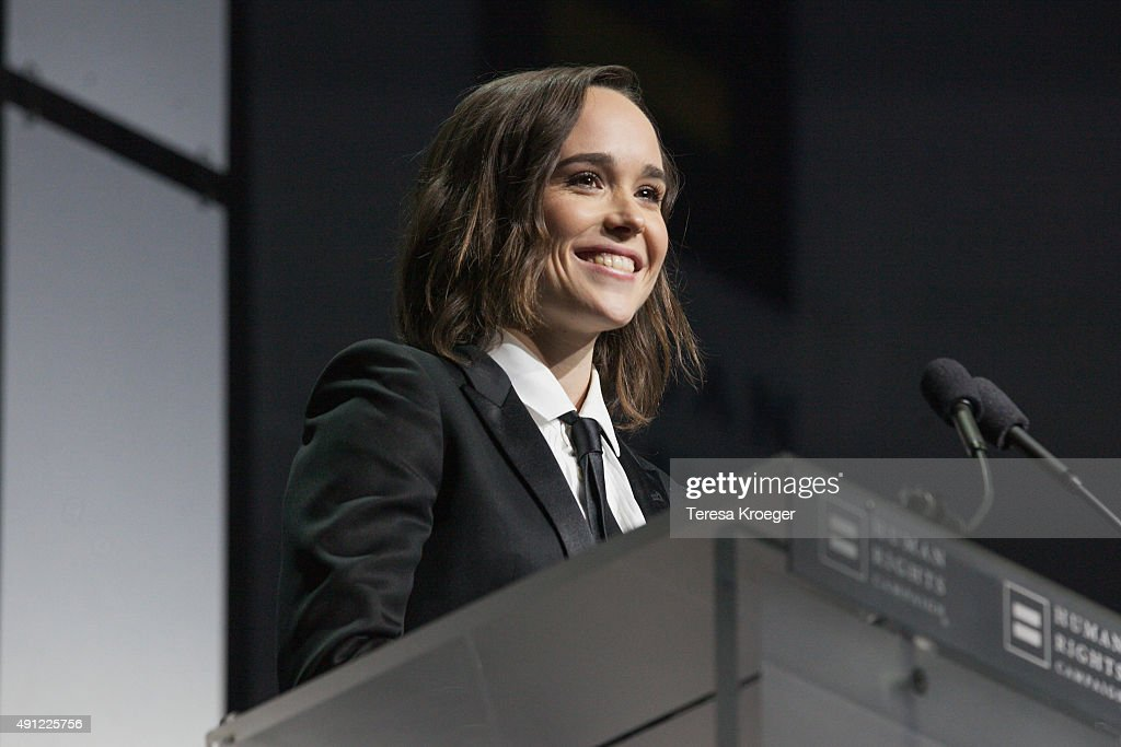 Actress Ellen Page speaks at the 19th Annual HRC National Dinner at Walter E. Washington Convention Center on October 3, 2015 in Washington, DC.