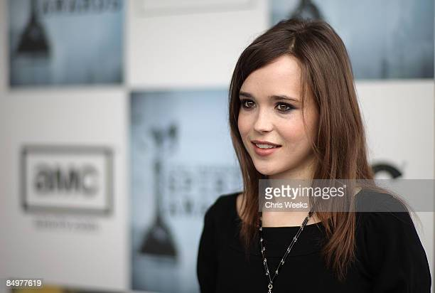 Actress Ellen Page with Jameson Irish Whiskey and GH Mumm at Film Independent's 2009 Independent Spirit Awards held at the Santa Monica Pier on...