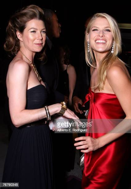 Actress Ellen Pompeo and actress Ali Larter attend the 11th Annual Entertainment Tonight Party sponsored by People held at the Disney Concert Hall on...