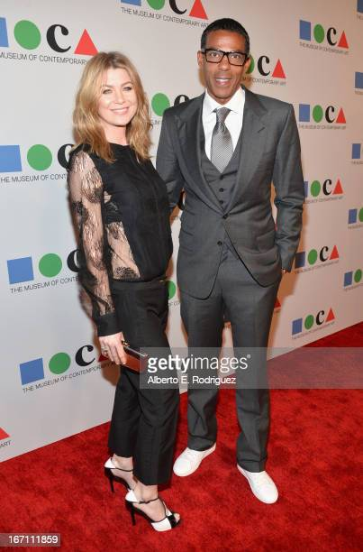 "Actress Ellen Pompeo and Chris Ivery attend ""Yesssss"" MOCA Gala 2013 Celebrating the Opening of the Exhibition Urs Fischer at MOCA Grand Avenue and..."