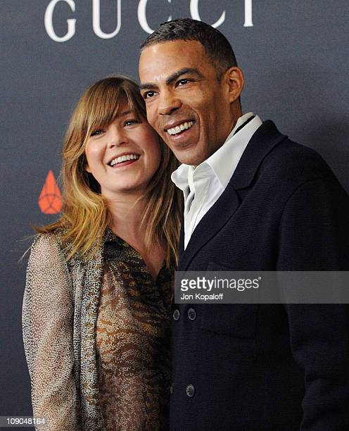 Actress Ellen Pompeo and husband Chris Ivery arrive at the Gucci And RocNation Host PreGrammy Brunch At Soho House at Soho House on February 12 2011...