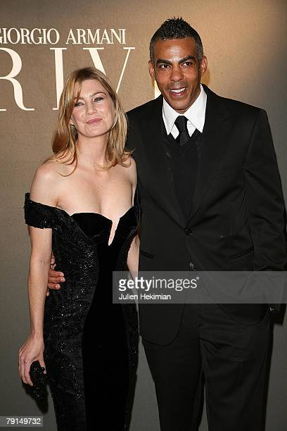 Actress Ellen Pompeo and husband producer Chris Ivery attend the Giorgio Armani Prive Spring/Summer 2008 Haute Couture Collection Show January 21...
