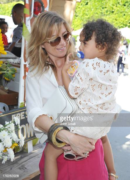 Actress Ellen Pompeo and Stella Luna Pompeo Ivery attend the 1st Annual Children Mending Hearts Style Sunday on June 9 2013 in Beverly Hills...
