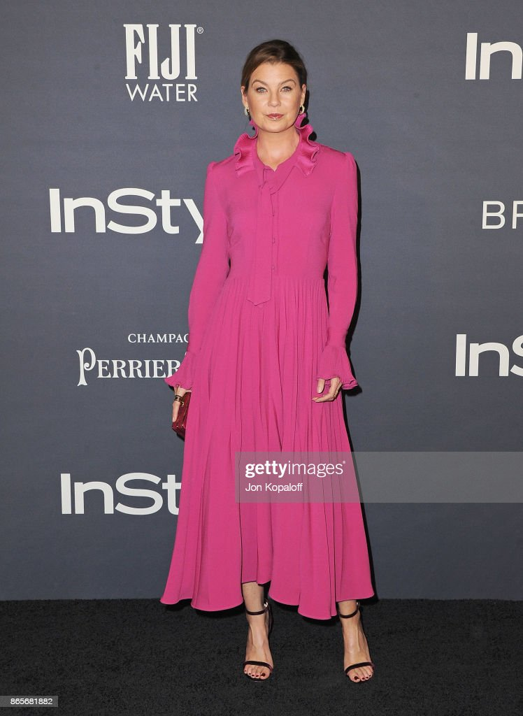 Actress Ellen Pompeo arrives at the 3rd Annual InStyle Awards at The Getty Center on October 23, 2017 in Los Angeles, California.