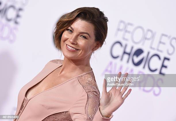 Actress Ellen Pompeo arrives at The 41st Annual People's Choice Awards at Nokia Theatre LA Live on January 7 2015 in Los Angeles California