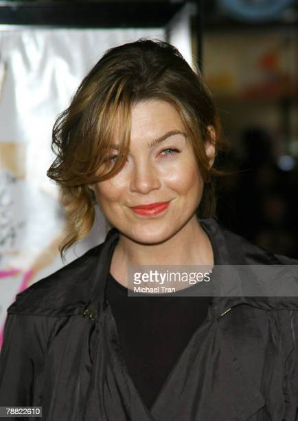 "Actress Ellen Pompeo arrives at the Los Angeles Premiere of ""27 Dresses"" held at The Mann Village Theatre on January 7, 2008 in Westwood, California."