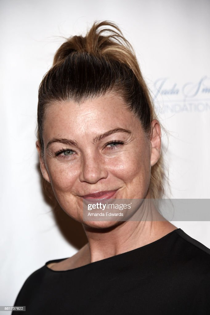Actress Ellen Pompeo arrives at the Sunday Matinee Of 'Turn Me Loose' at the Wallis Annenberg Center for the Performing Arts on October 15, 2017 in Beverly Hills, California.