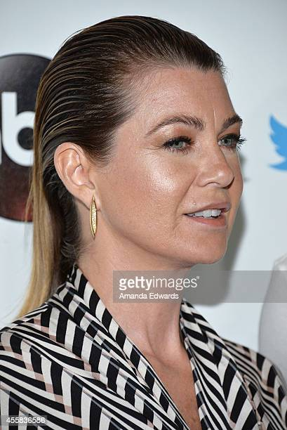 Actress Ellen Pompeo arrives at the #TGIT Premiere Event hosted by Twitter at Palihouse Holloway on September 20 2014 in West Hollywood California