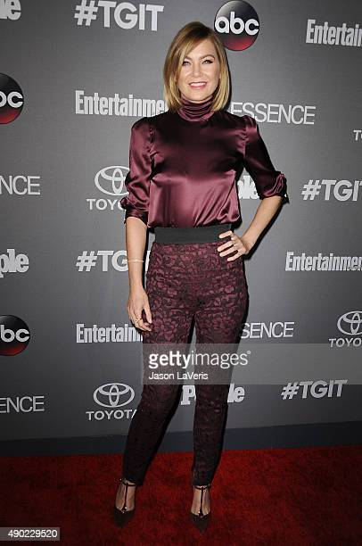 Actress Ellen Pompeo attends ABC's TGIT premiere event on September 26 2015 in West Hollywood California